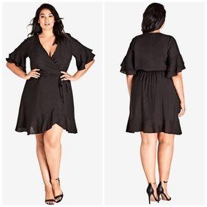 NWT City Chic Flounce Sleeve Dress
